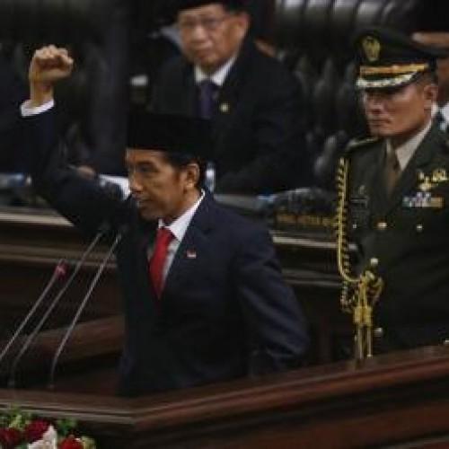 Presiden Joko Widodo Saat Memberikan Pidato Disidang Paripurna Pelantikan Presiden