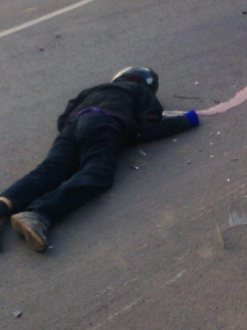 Amin seketika meninggal di TKP